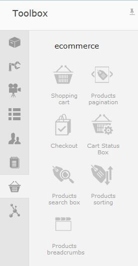 Left-panel-Toolbox-Ecommerce