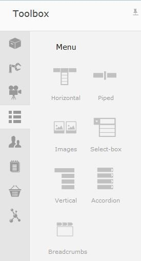 Left-panel-Toolbox-Menu