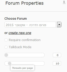 Forum - Properties - Threads per page